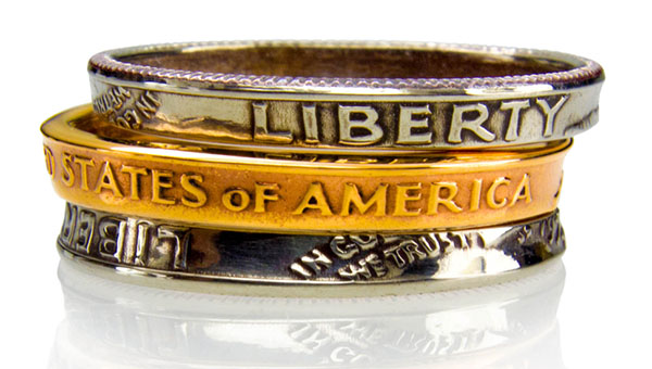 hand made coin rings