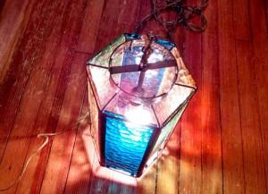 hanging vintage lamp