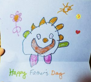 happy fathers day doodle