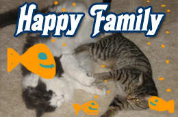Happy pet family.