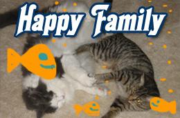 Happy pet family.