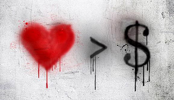 heart greater than money