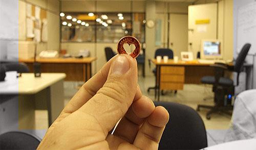 heart penny