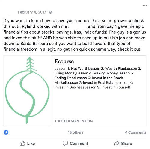 hidden green recommendation