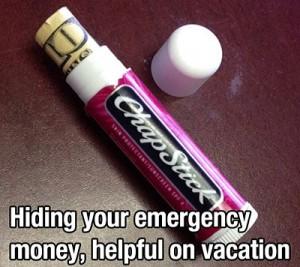 hide money chapstick