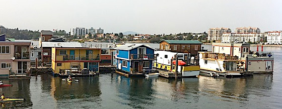 house boats landscape