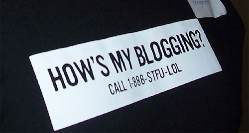 how's my blogging t-shirt