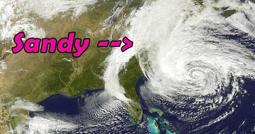 hurricane sandy nasa shot