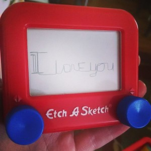 i love you etch-a-sketch