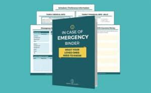 in case of emergency binder
