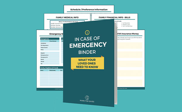 in case of emergency binder