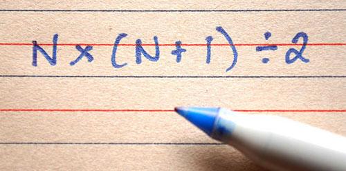 integers sum formula 1-n