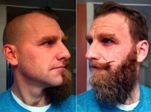j money beard face-off