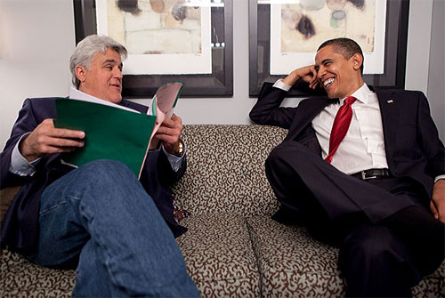 jay leno with barack obama