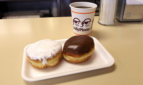 jolly pirate coffee donuts