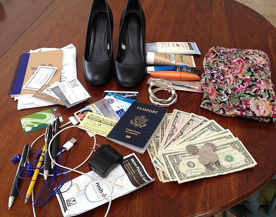 kathy kristof purse contents