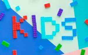kids made of legos