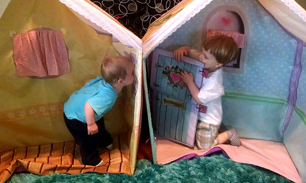 kids playing house