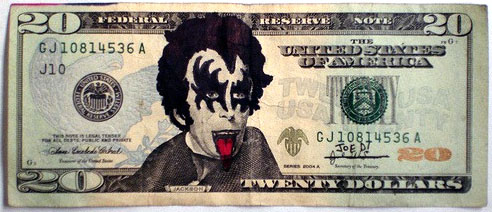 KISS $20 Dollar Bill
