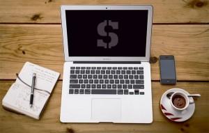 laptop coffee money