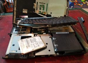 breaking a part laptop