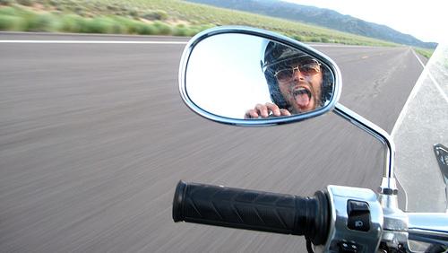 laughing motorcycle