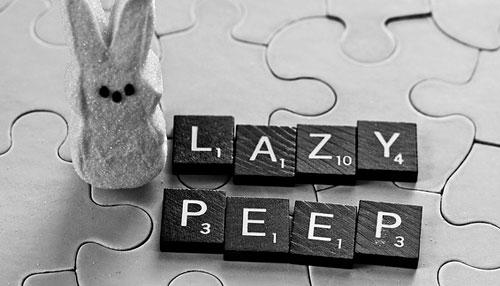 lazy peep