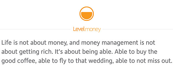level money blog message
