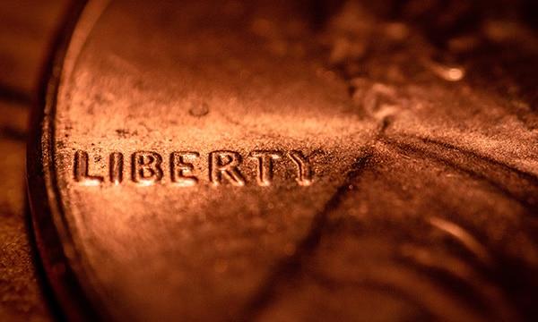 liberty close up penny