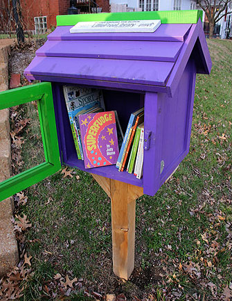 little free library purple