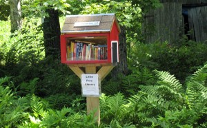 little free library red