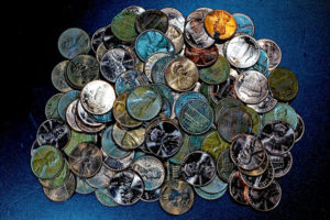 colorful pennies