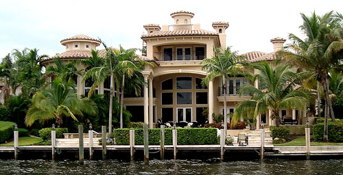 mansion on water