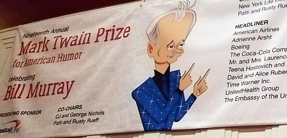 mark twain prize - bill murray