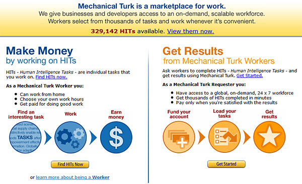 mechanical turk amazon