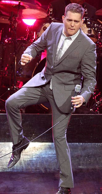 michael buble dancing