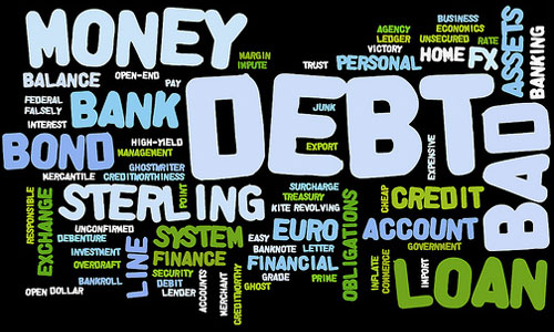 money debt word cloud