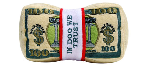 plush dog money toy