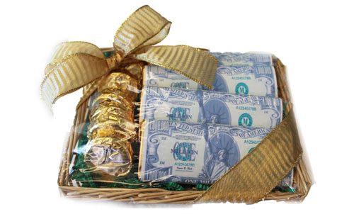 stimulus package chocolate gift basket