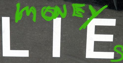 money lies