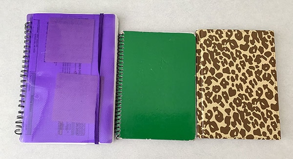 money notebooks
