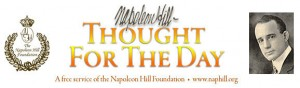 napoleon hill thought for day
