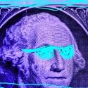neon dollar bill shades