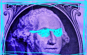 neon dollar bill shades