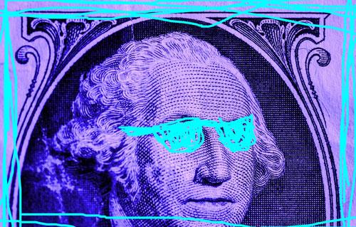 neon george washington sunglasses