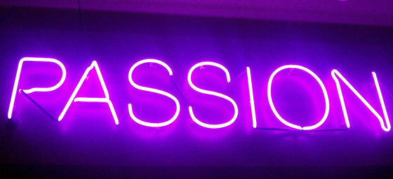 neon passion sign