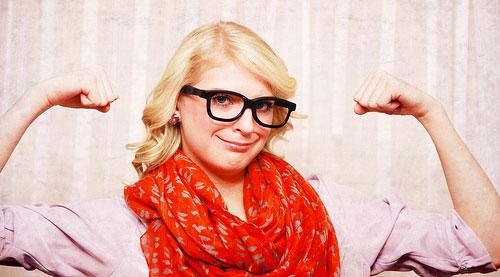 nerd glasses girl