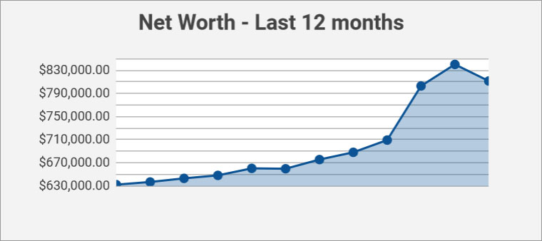 net worth - past 12 months