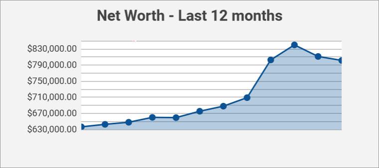 net worth - past 12 months