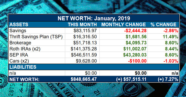 net worth - january, 2019